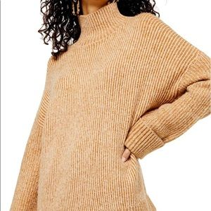 NWT Topshop Wide Sleeve Turtleneck Camel Sweater